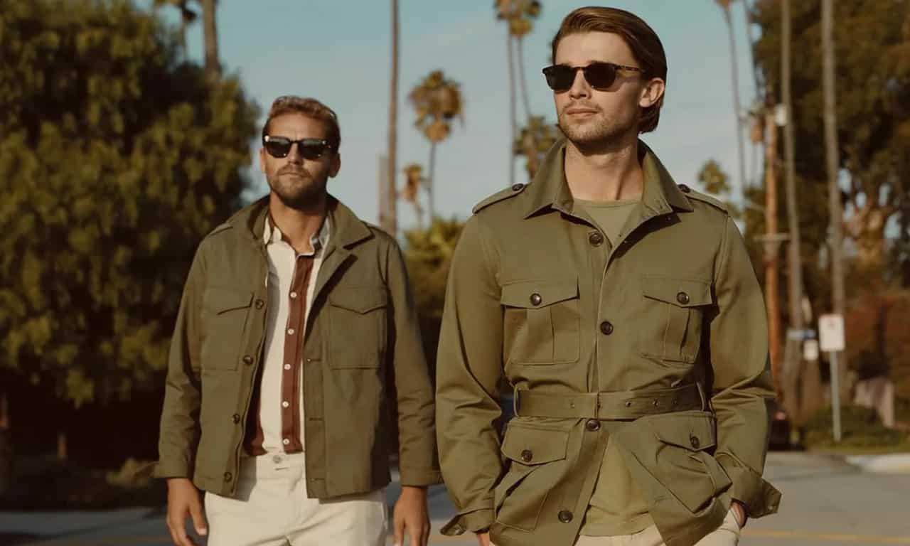 Мужская куртка сафари