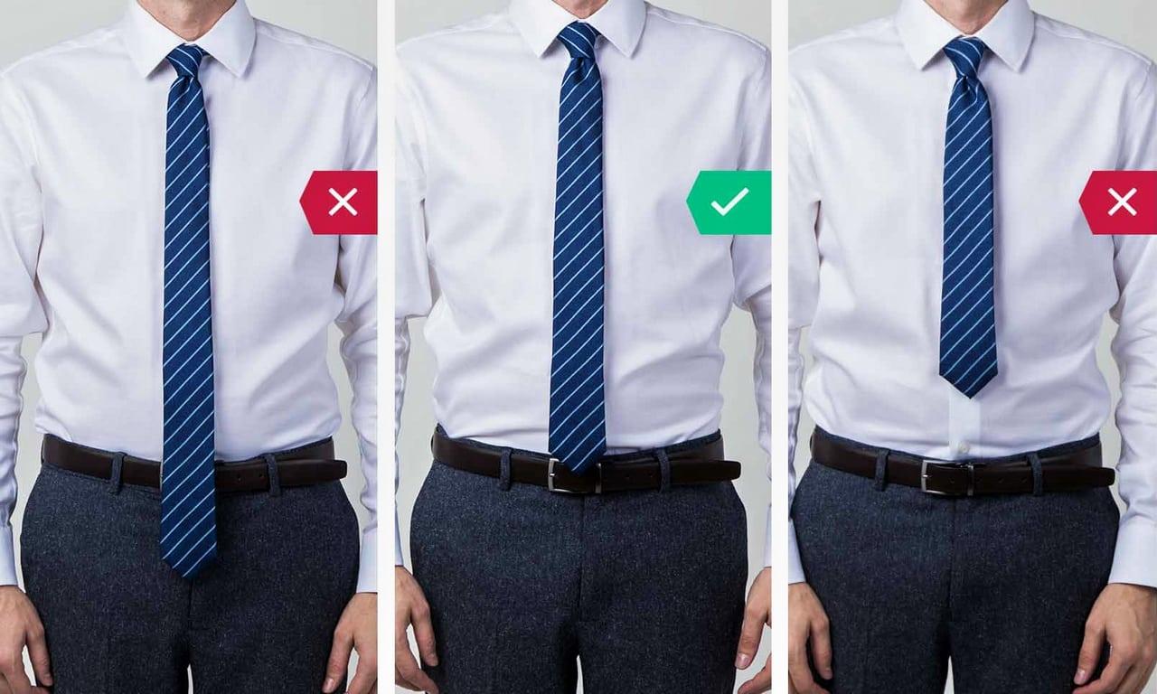 Длина галстука, как подобрать?