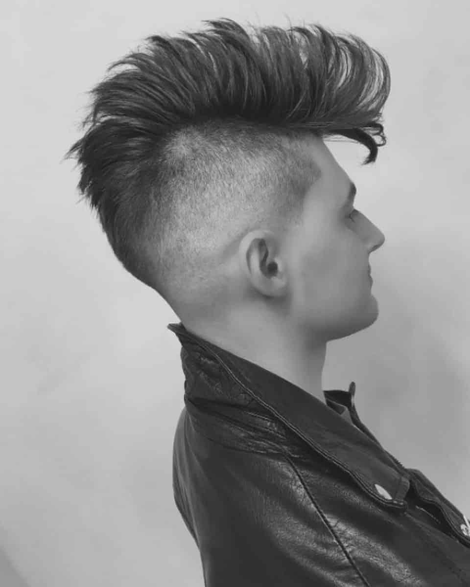 Фото мужских причесок в стиле рок